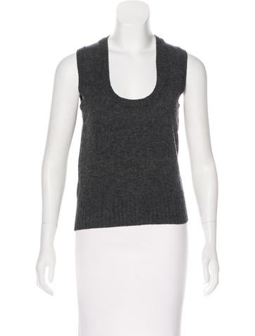 Prada Sport Sleeveless Wool Knit Top None