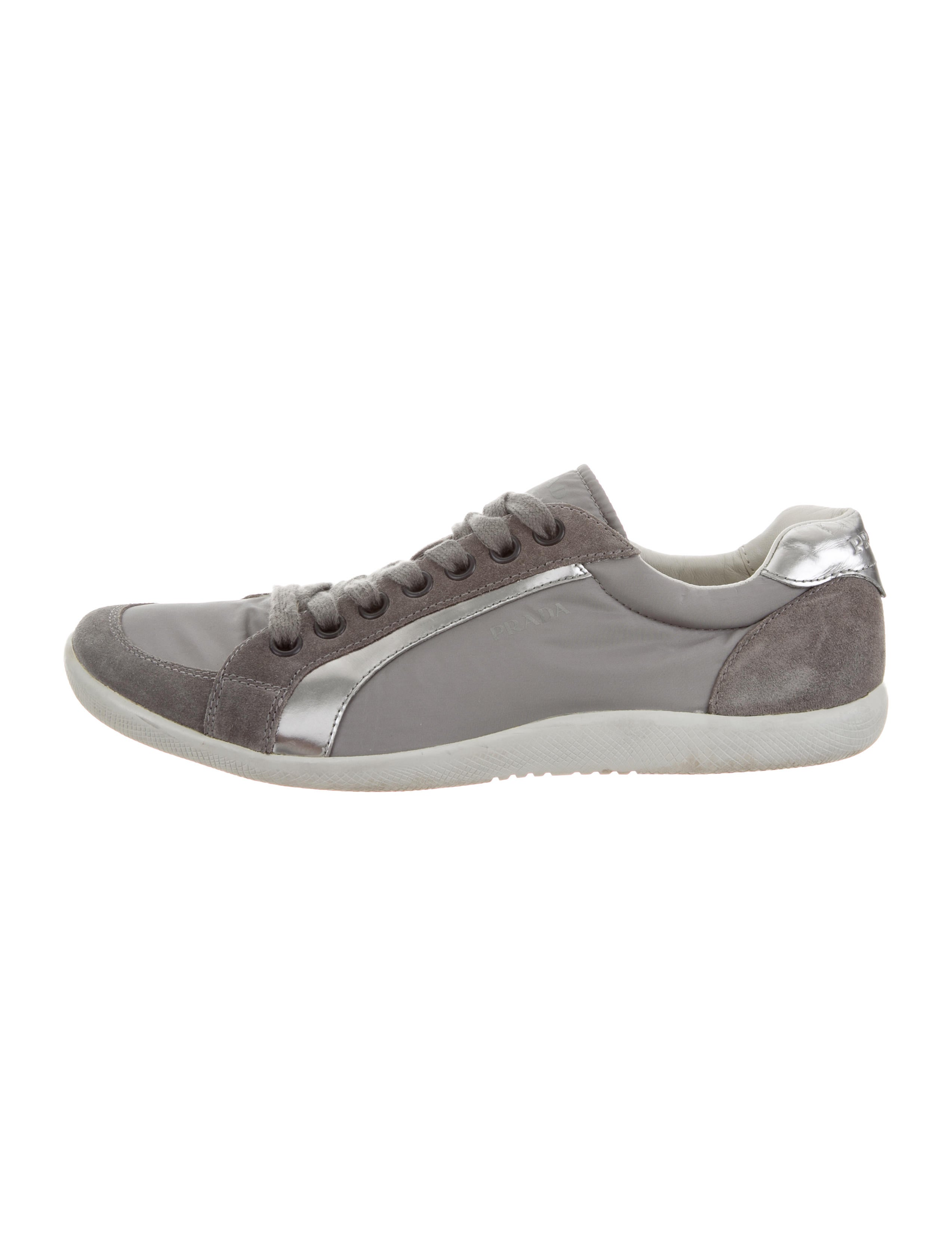 outlet best store to get reliable online Prada Sport Nylon Low-Top Sneakers cheap sale visa payment fY90aG7