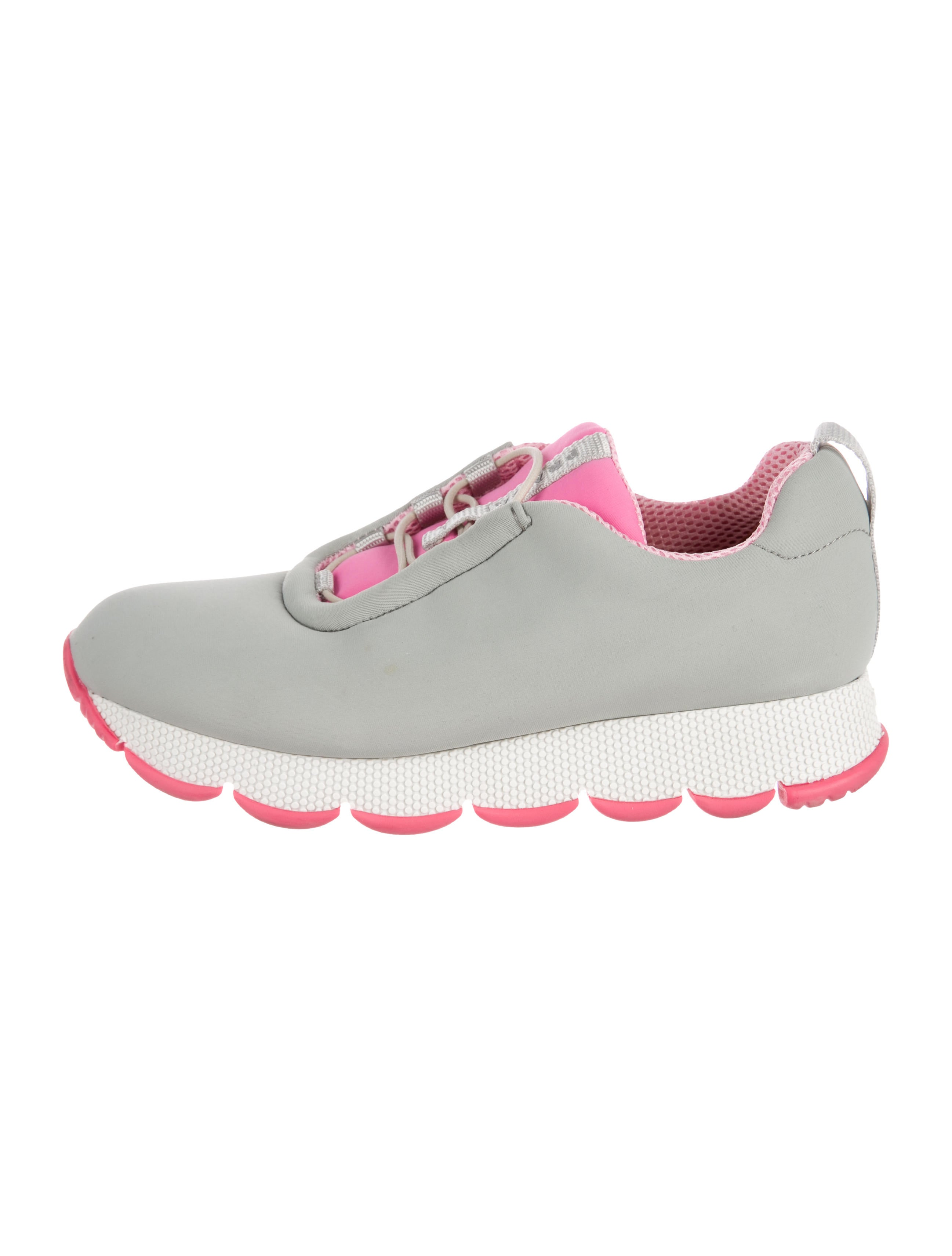 Prada Sport Neoprene Low-Top Sneakers amazing price online 8f2H7Ucle