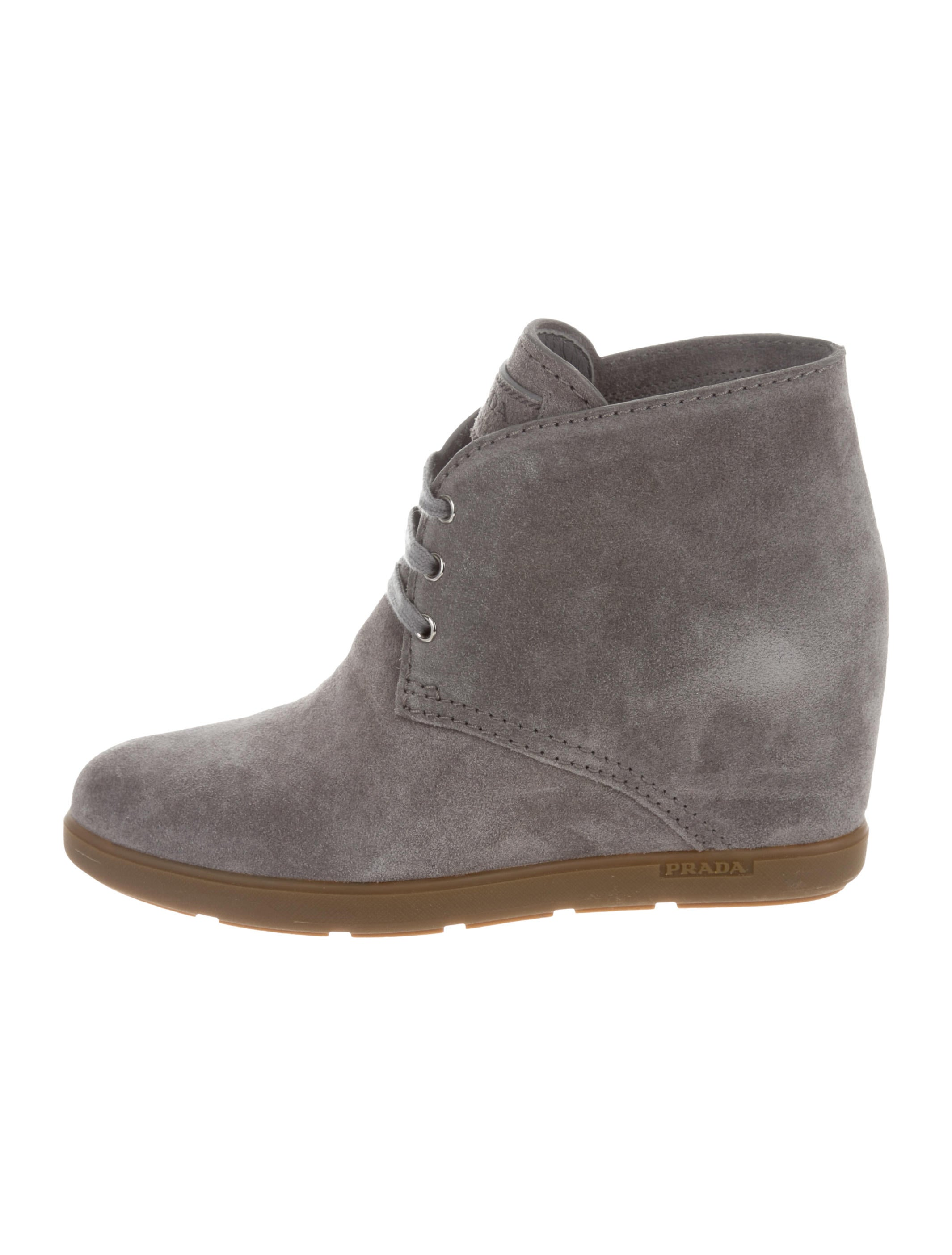 Prada Sport Round-Toe Wedge Booties outlet Manchester p9E0eV4