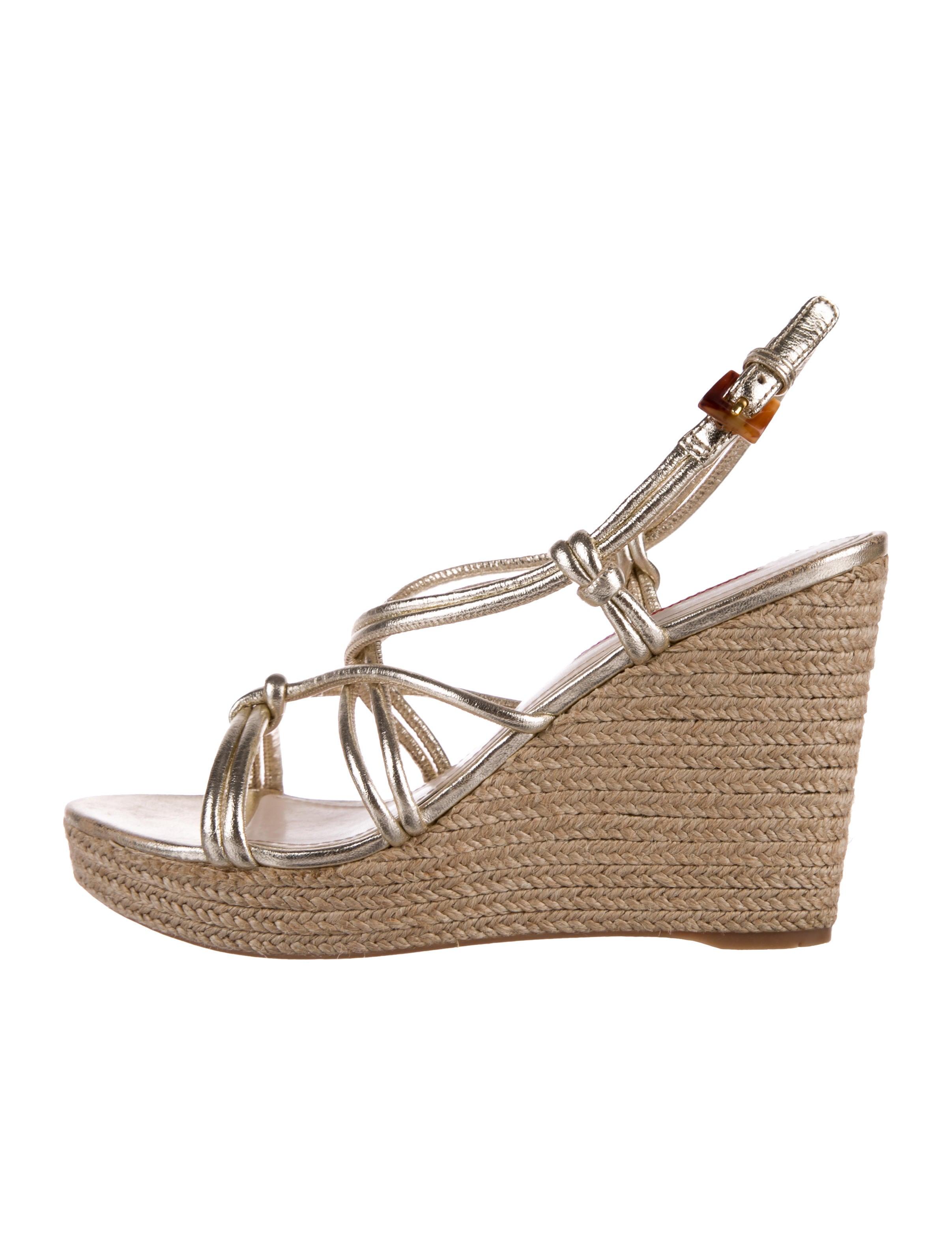 Prada Sport Metallic Wedge Sandals free shipping marketable free shipping 100% original 2014 new for sale Shucwh8192