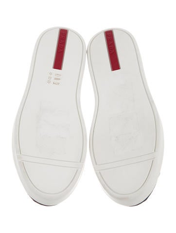 Prada Sport Grommet-Embellished Slip-On Sneakers w/ Tags outlet purchase high quality online QcPdmT6kEv