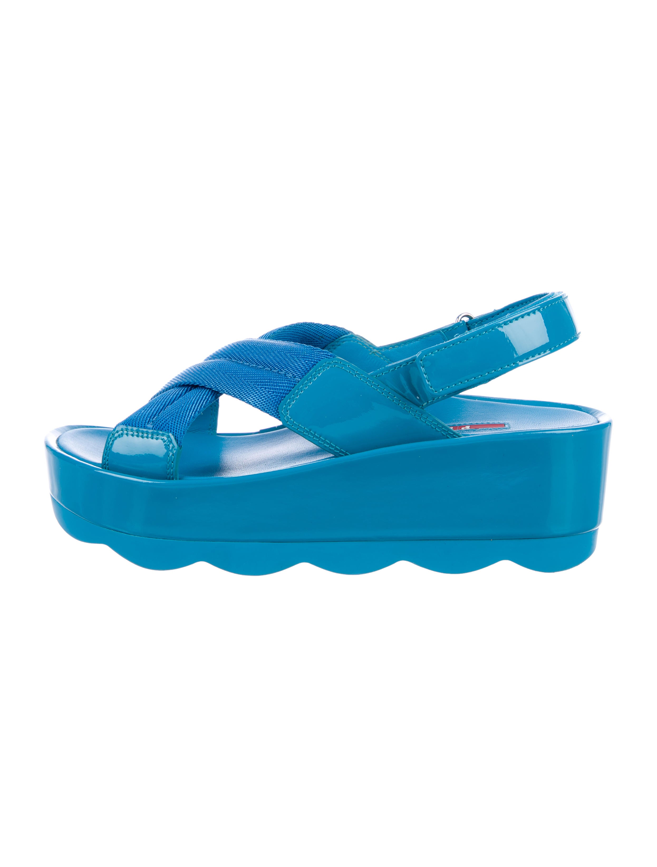 999b2e0d0c9b Prada Sport Slingback Flatform Sandals - Shoes - WPR49331