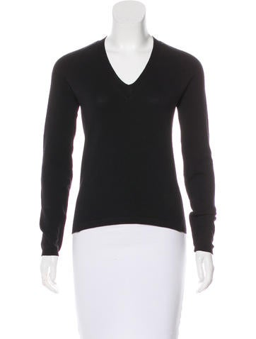 Prada Sport Leather-Trimmed Knit Sweater None