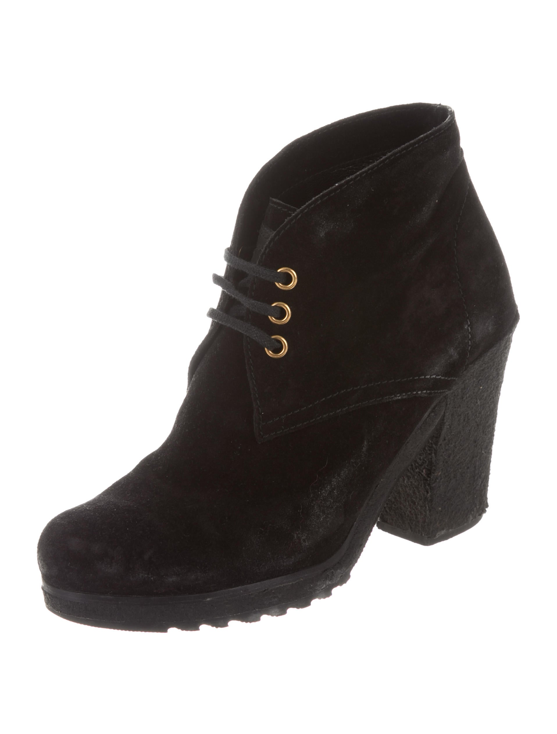 Prada Sport Suede Lace-Up Booties cheap real eastbay 3vLlXa