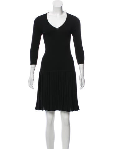 Prada Sport Rib Knit Knee-Length Dress None