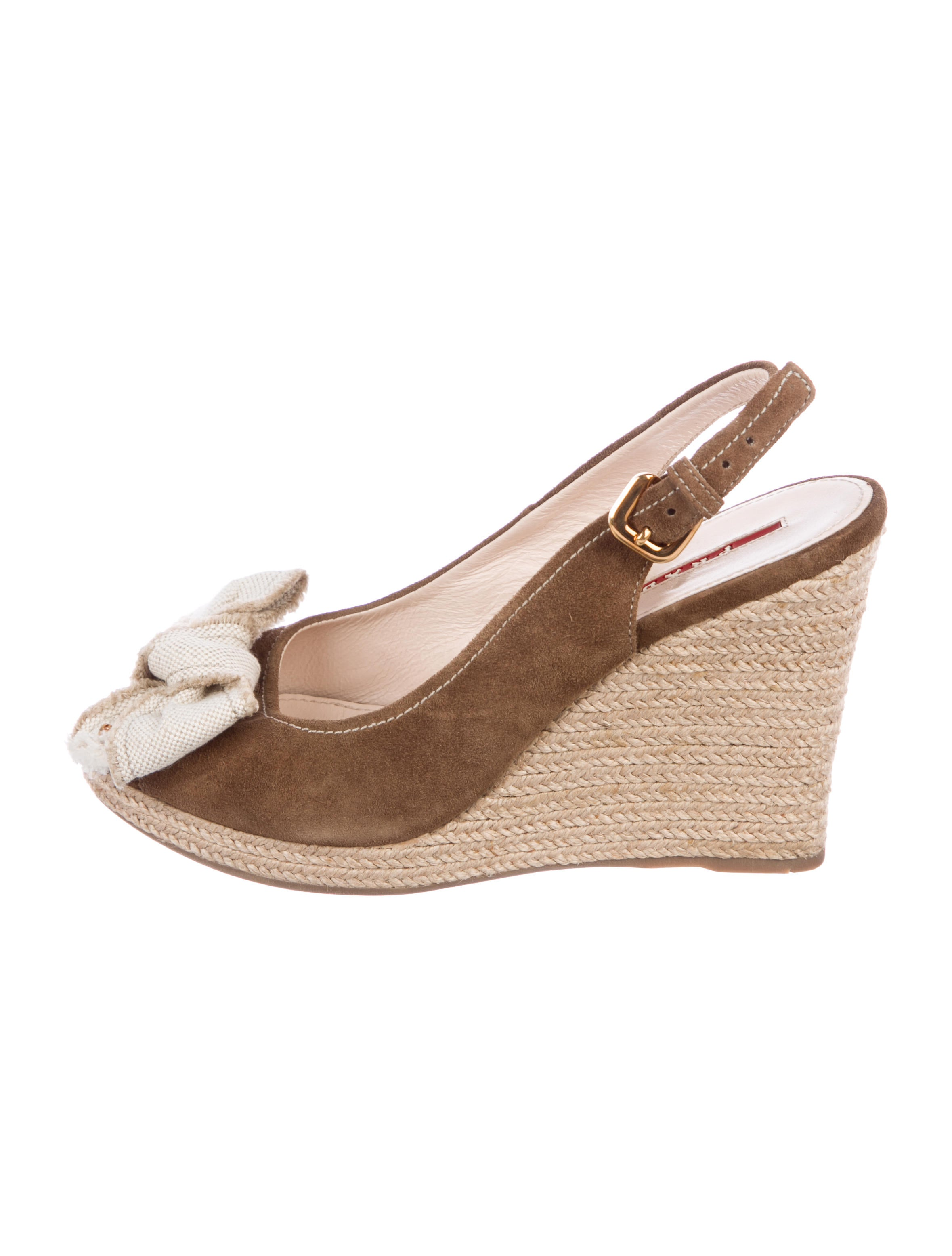 clearance collections Prada Sport Logo Espadrille Wedges discount under $60 clearance pre order 7FbBZXspz