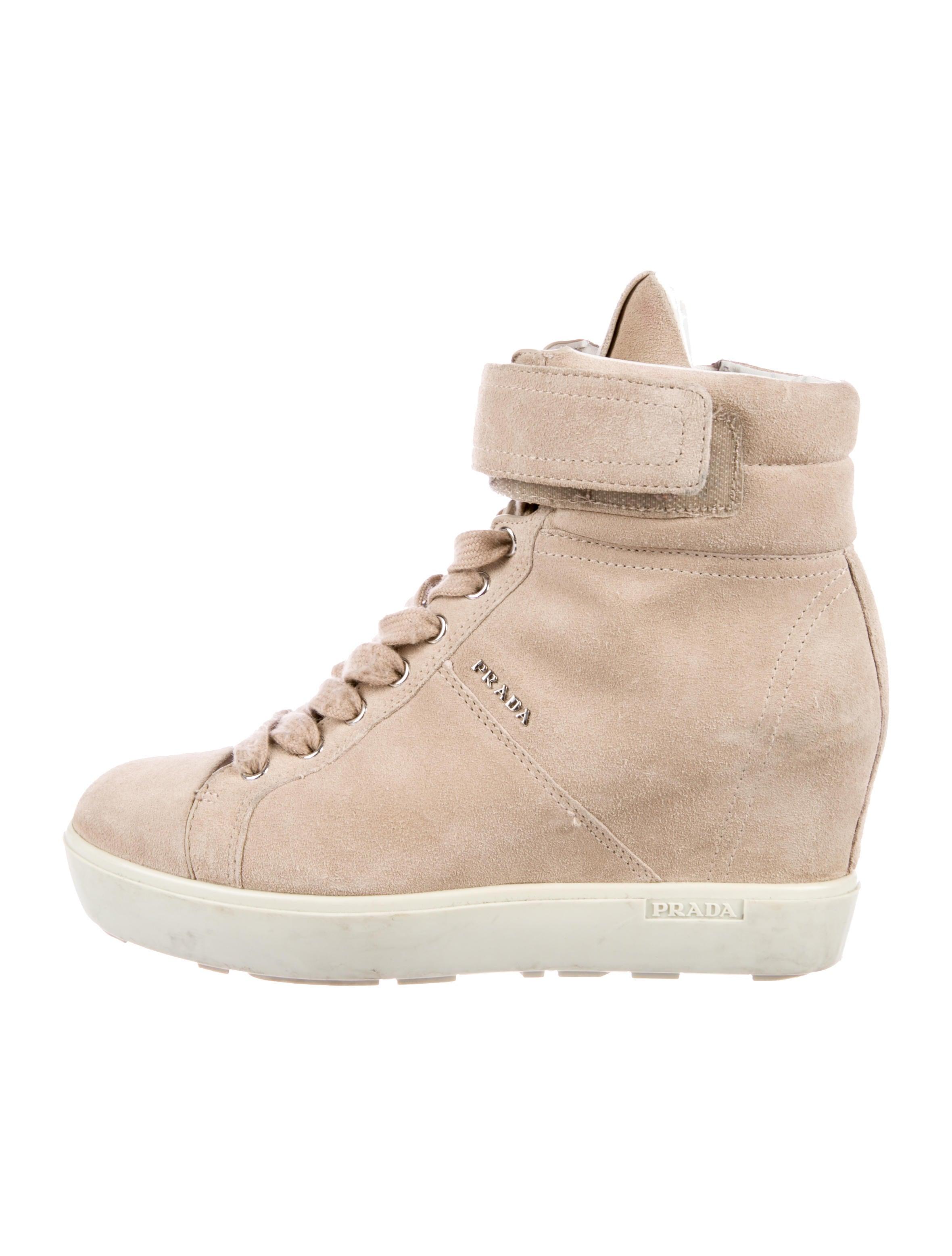 6b5b6fc5a167 Prada Sport Suede Wedge Sneakers - Shoes - WPR50469