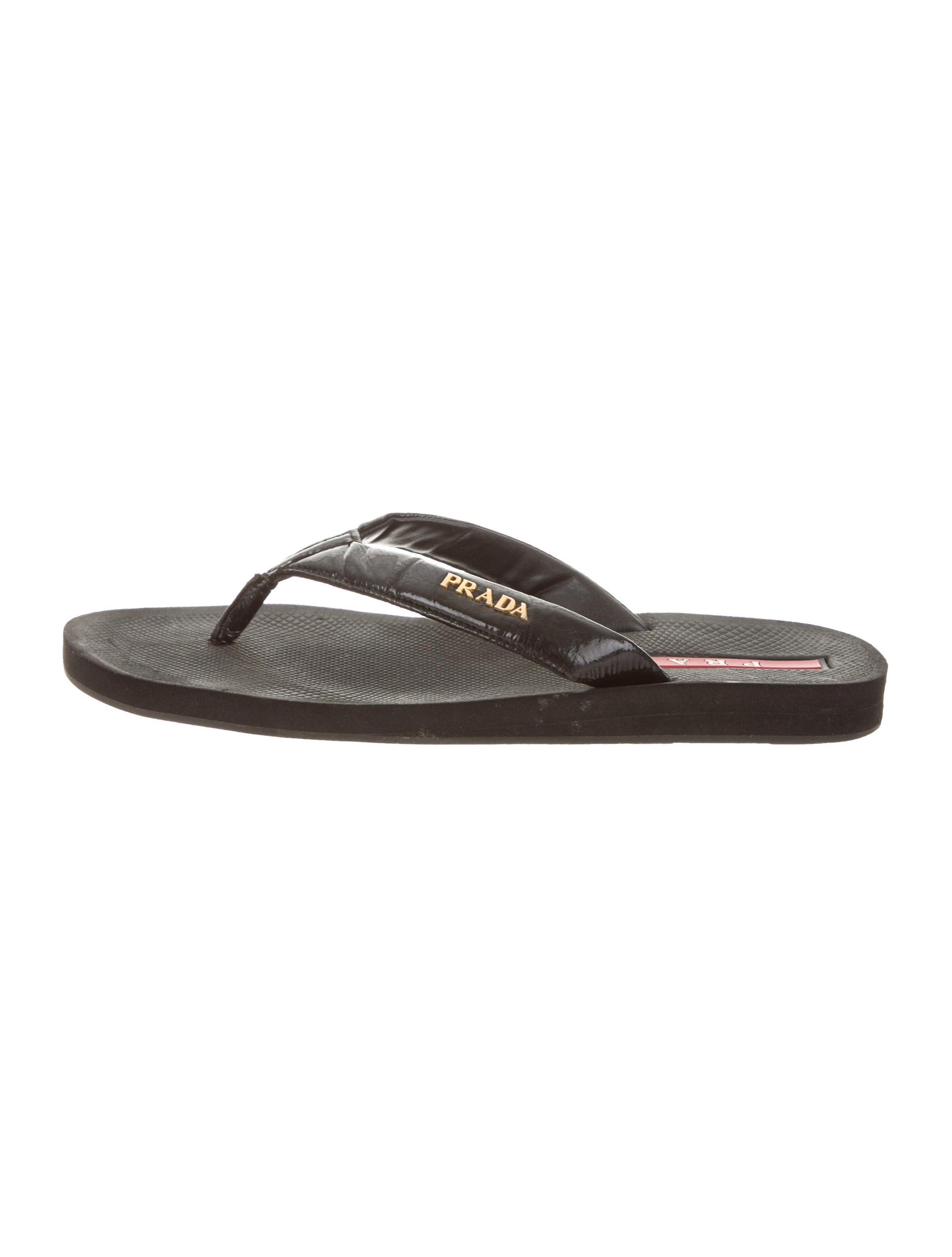 57aa41446 Prada Sport Logo Thong Sandals - Shoes - WPR50584