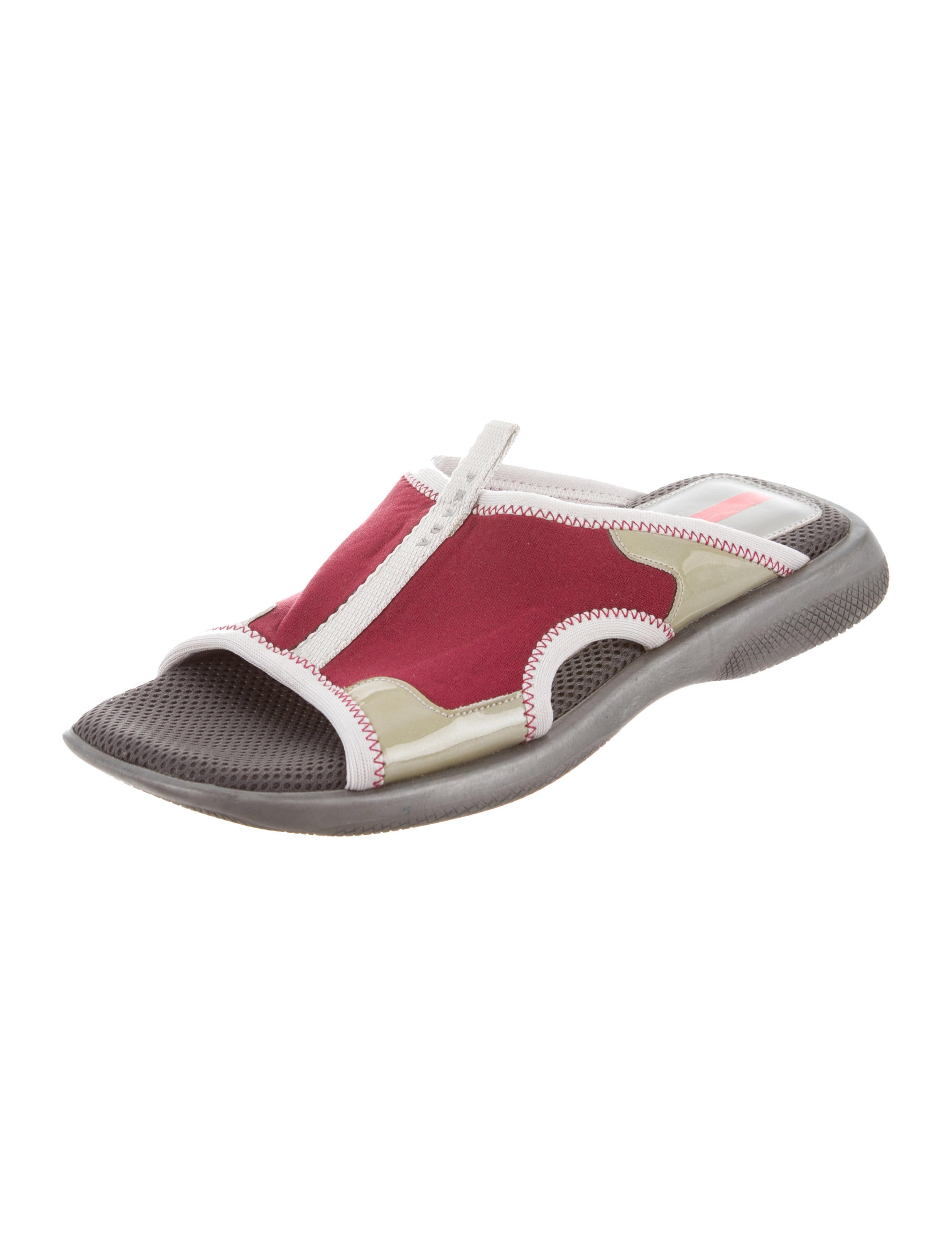 discounts for sale Prada Sport Neoprene Slide Sandals clearance prices brand new unisex online cheap 2014 new 8Ftdn3R2