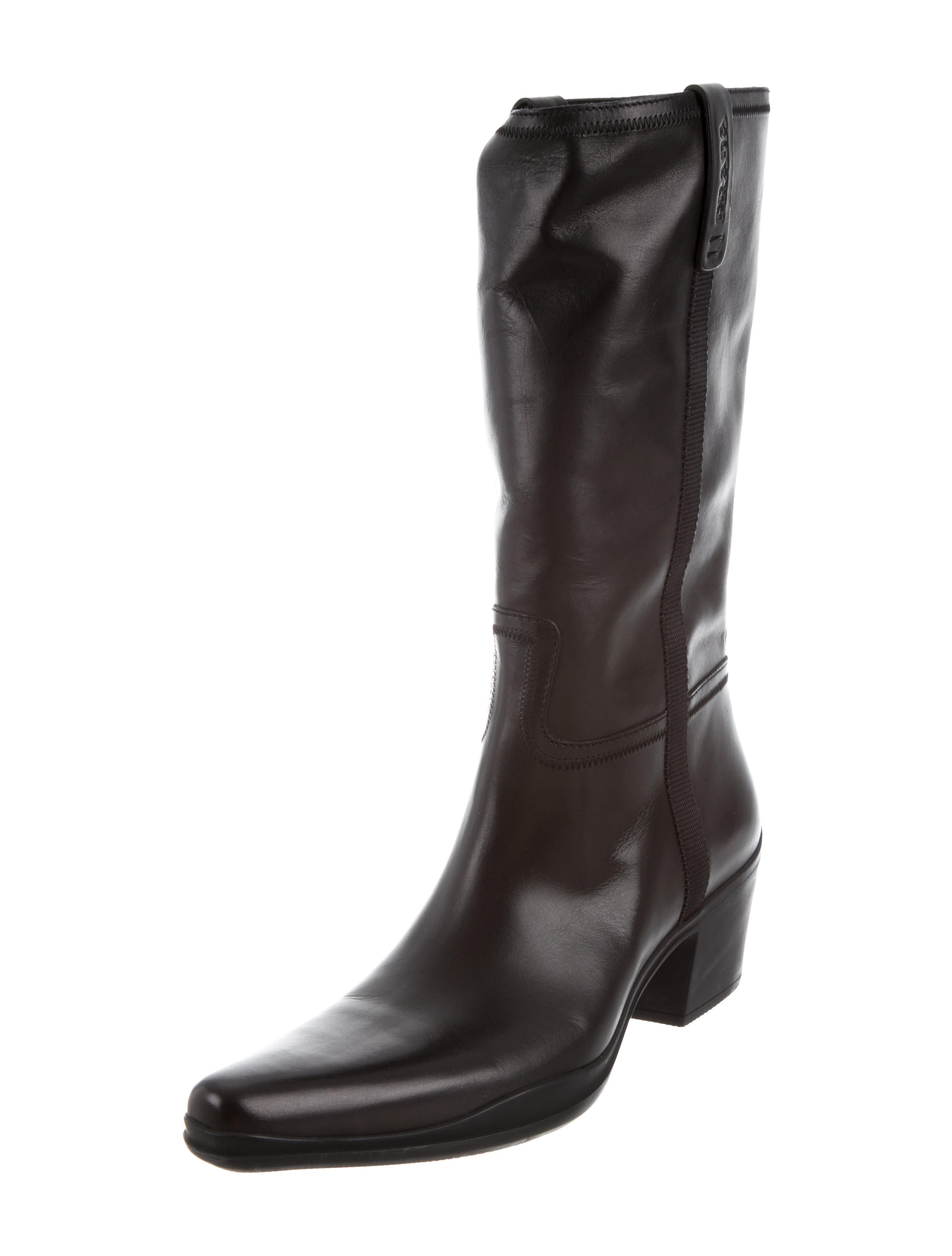 Prada Sport Leather Mid-Calf Boots w/ Tags geniue stockist cheap online 0Qcgb5