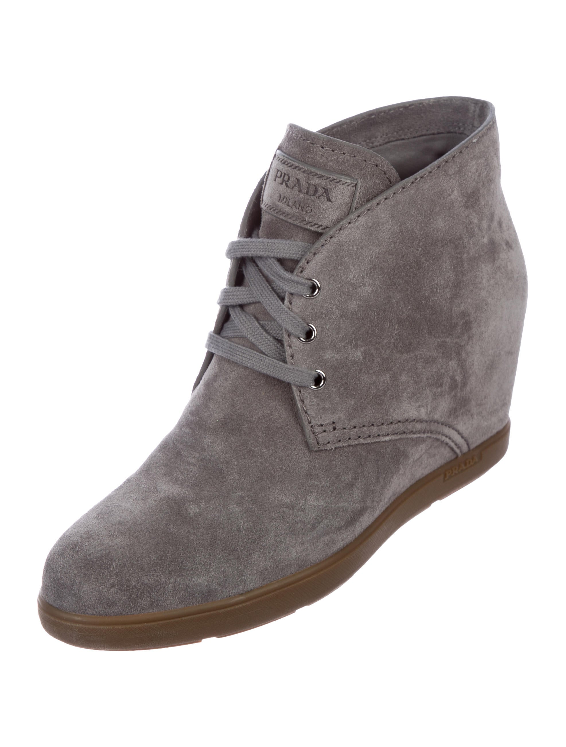 clearance official Prada Sport Scamosciato Ghiaia Suede Booties newest cheap online 100% guaranteed cheap online discount many kinds of 98QsS24vW