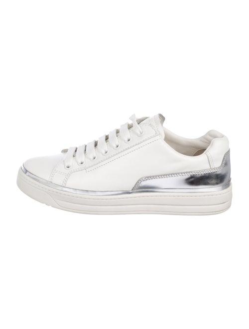 012ca910ed79 Prada Sport Leather Low-Top Sneakers - Shoes - WPR62051