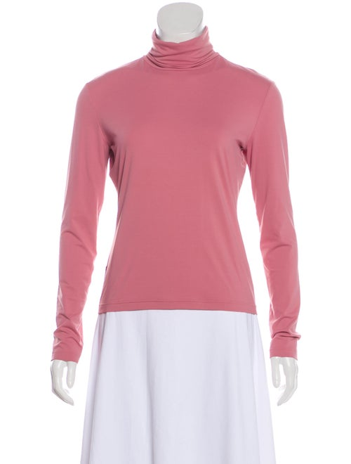 Prada Sport Turtleneck Long Sleeve Top Pink