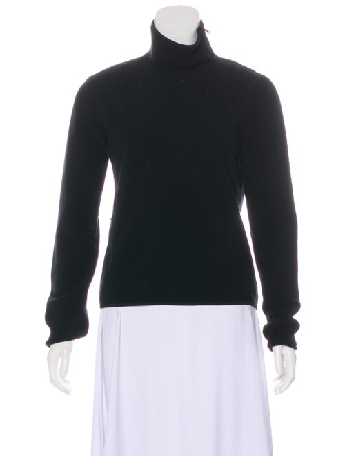Prada Sport Turtleneck Long Sleeve Sweatshirt Blac