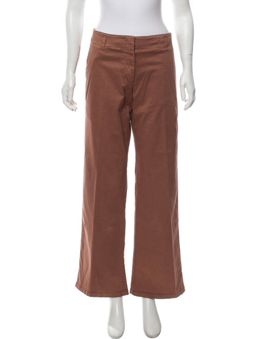 Prada Sport Mid-Rise Wide-Leg Pants brown