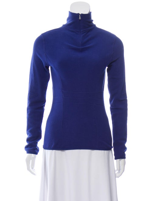 Prada Sport Turtleneck Long Sleeve Sweatshirt Blue