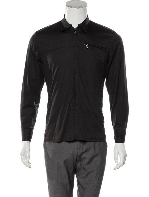 Prada Sport Woven Zip Jacket black