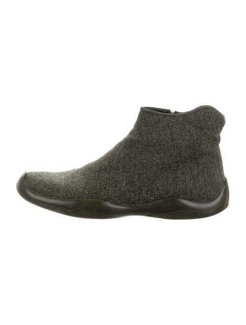 Prada Sport Round-Toes Boots Grey