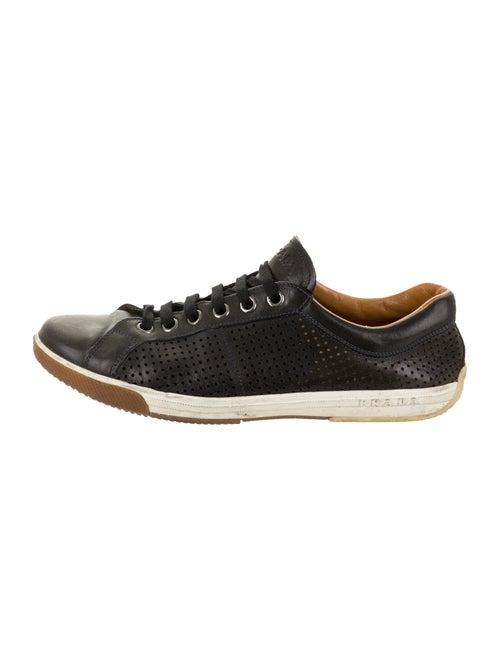 Prada Sport Perforated Leather Sneakers black