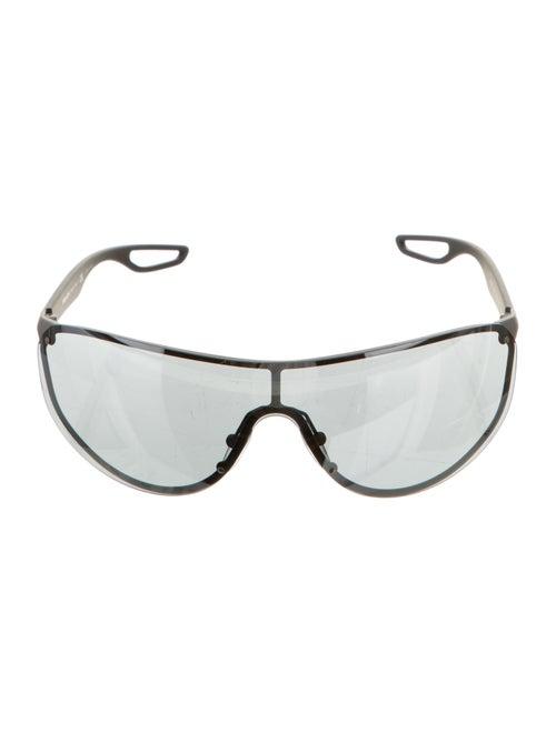 Prada Sport Rimless Shield Sunglasses Black