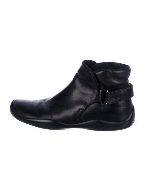 Prada Sport Leather Ankle Boots black