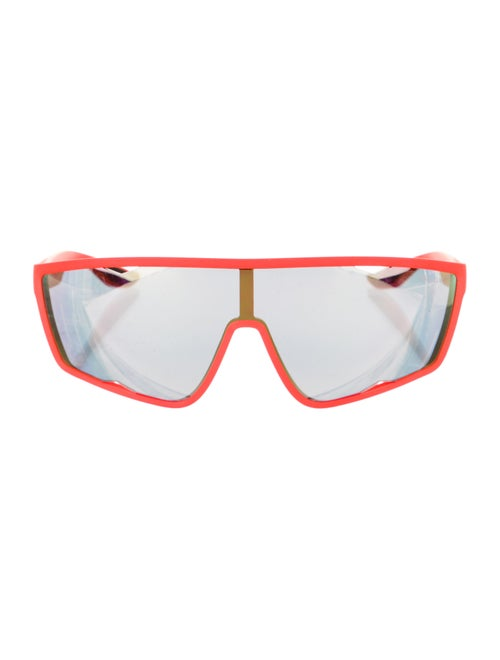 Prada Sport Shield Mirrored Sunglasses Orange