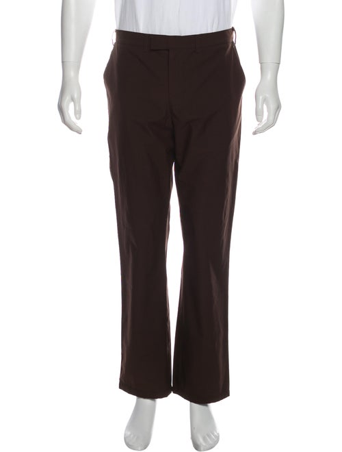 Prada Sport Cropped Flat Front Pants brown