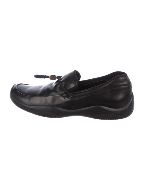 Prada Sport Leather Loafer Sneakers Black