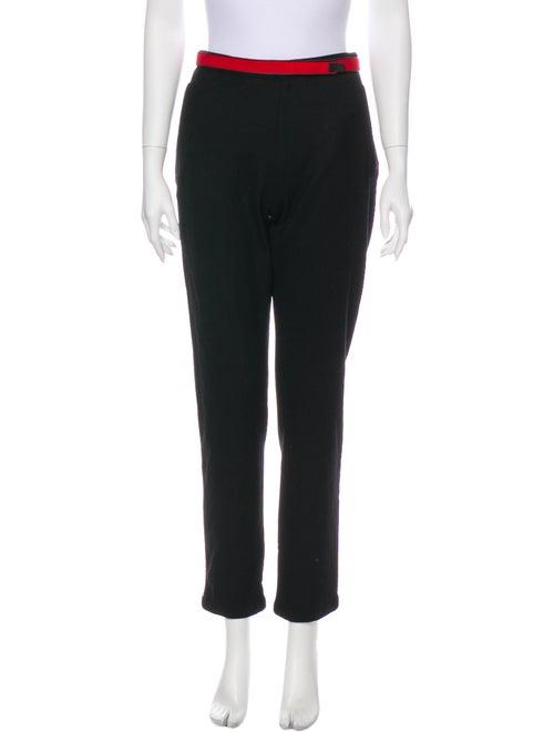 Prada Sport Virgin Wool Straight Leg Pants Wool