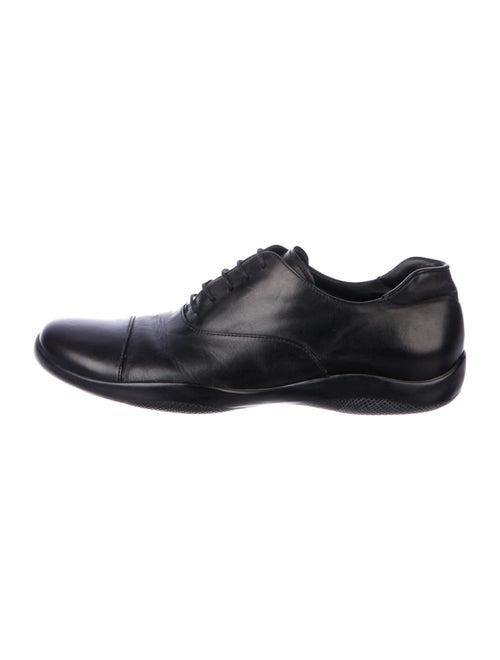 Prada Sport Leather Oxfords Black