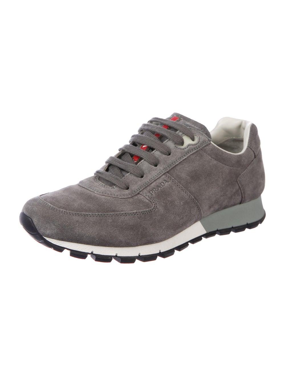Prada Sport Suede Sneakers Grey - image 2