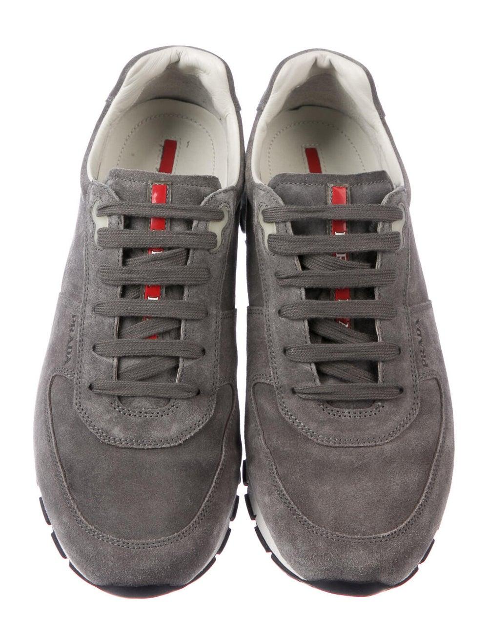 Prada Sport Suede Sneakers Grey - image 3