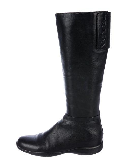 Prada Sport Leather Boots Black