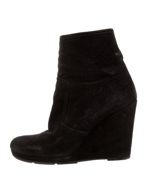 Prada Sport Suede Boots Black