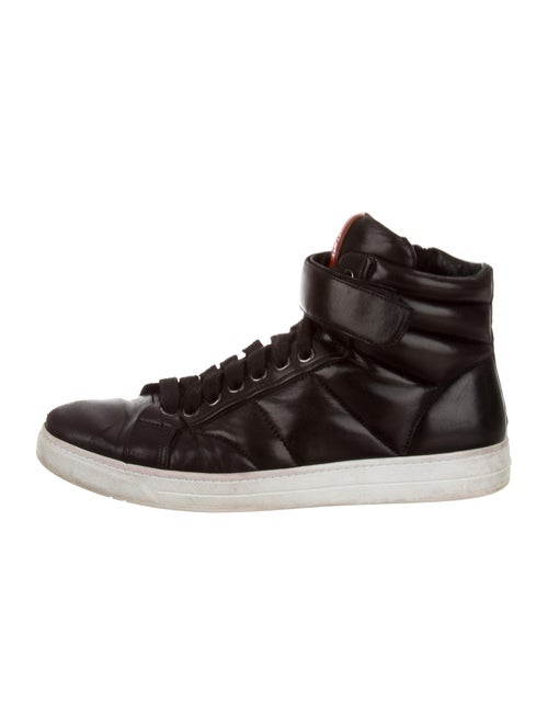 Prada Sport Leather Sneakers Black