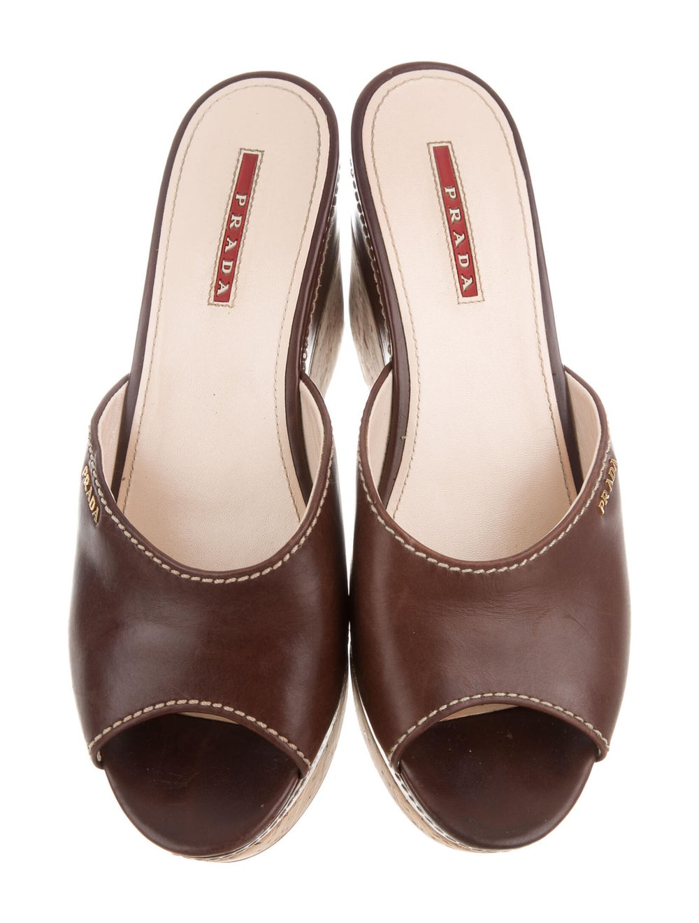 Prada Sport Leather Slides Brown - image 3