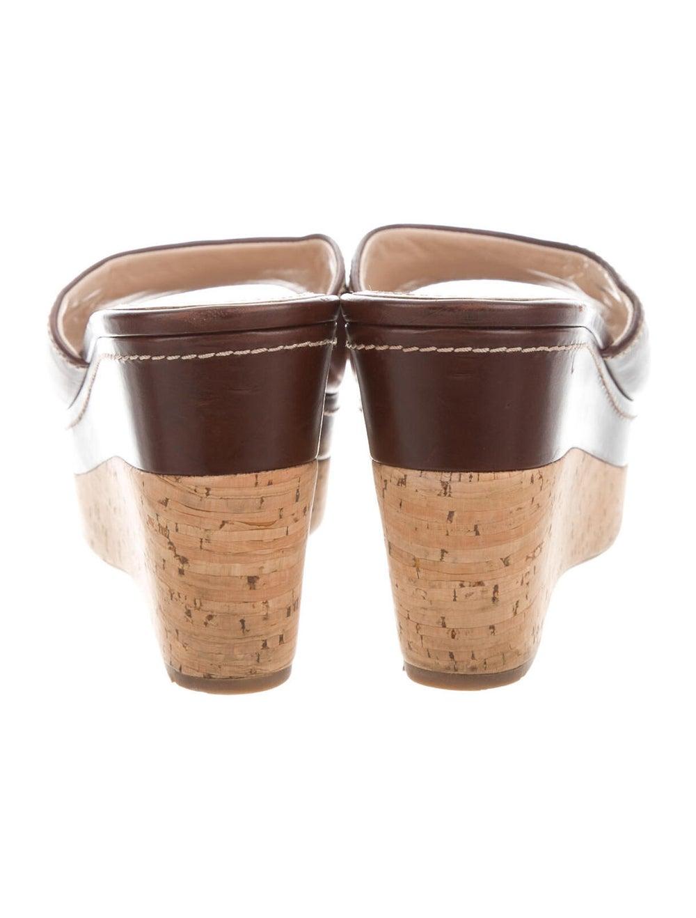 Prada Sport Leather Slides Brown - image 4