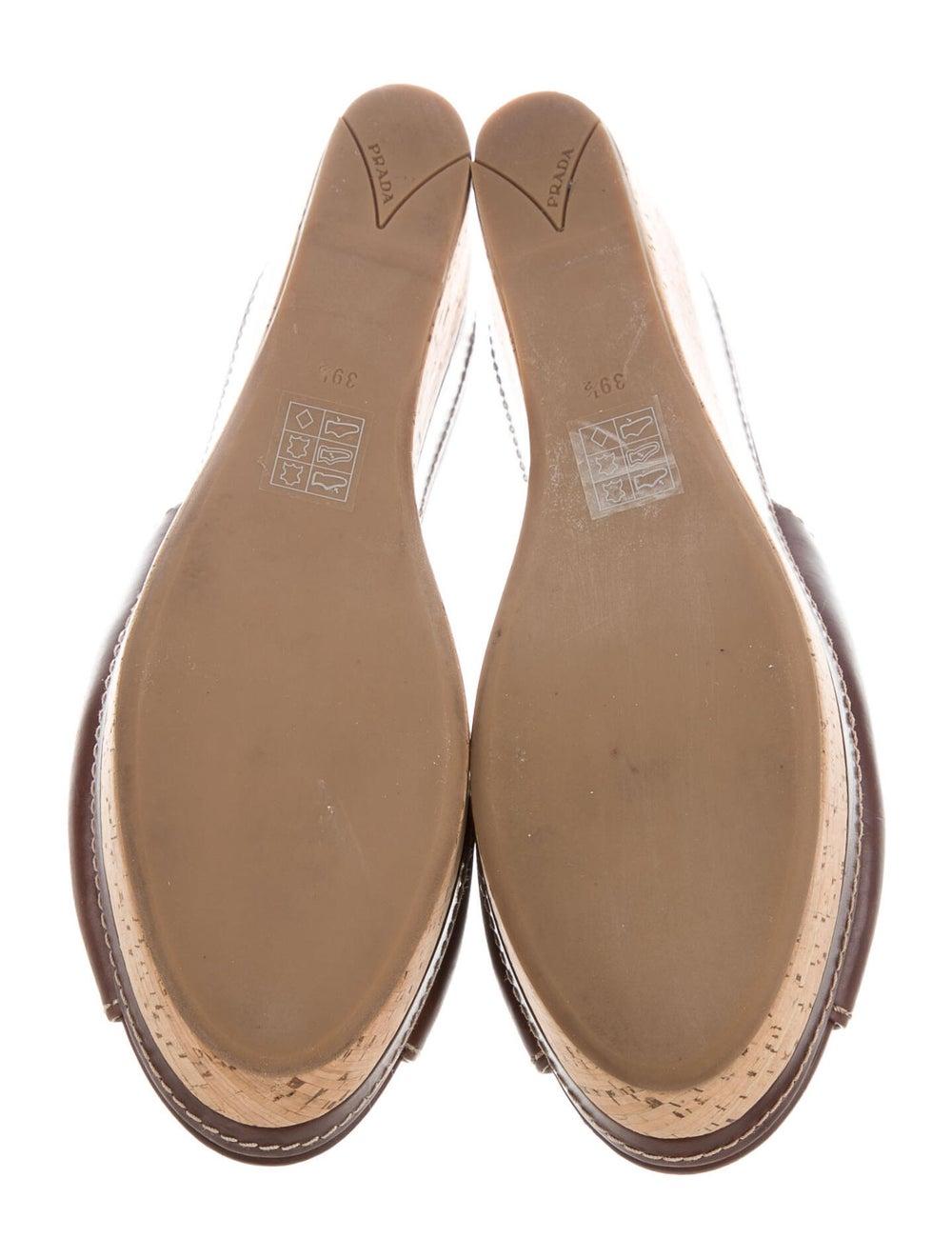 Prada Sport Leather Slides Brown - image 5