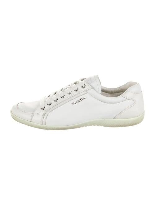 Prada Sport Leather Sneakers White