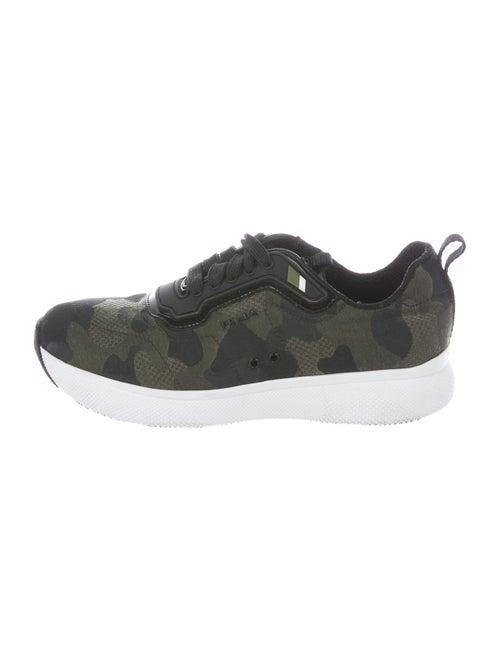 Prada Sport Printed Sneakers Green