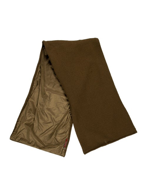 Prada Sport Knit Rectangle Scarf Brown