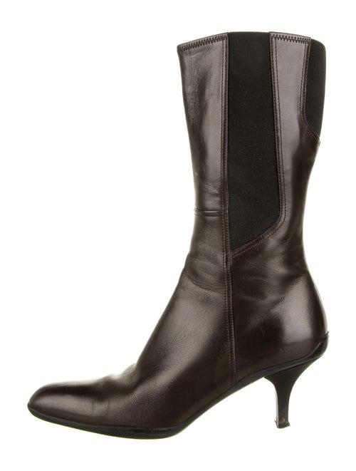 Prada Sport Leather Boots Brown