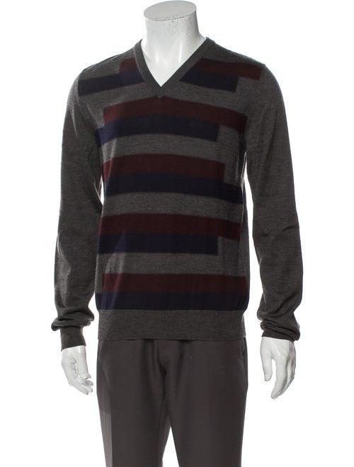 Prada Sport Wool Striped Pullover Wool