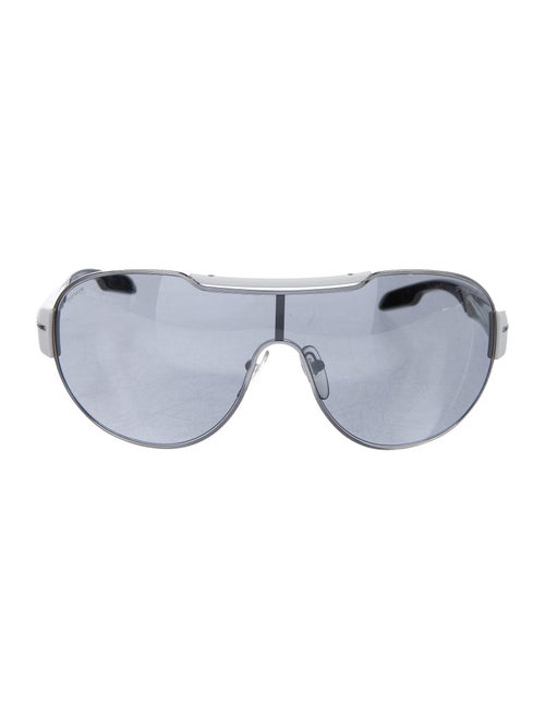 Prada Sport Shield Tinted Sunglasses silver