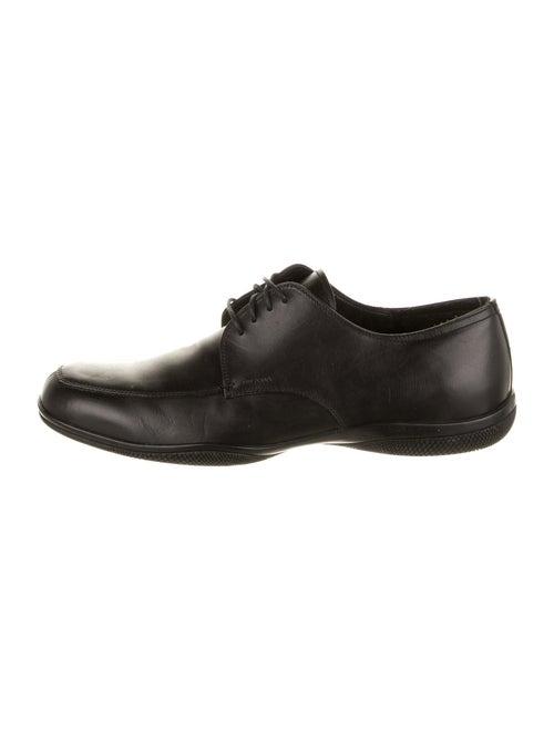 Prada Sport Leather Derby Shoes Black