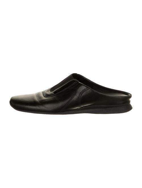 Prada Sport Leather Mules Black