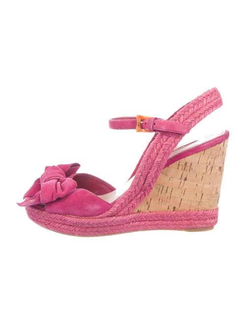 Prada Sport Suede Sandals Pink
