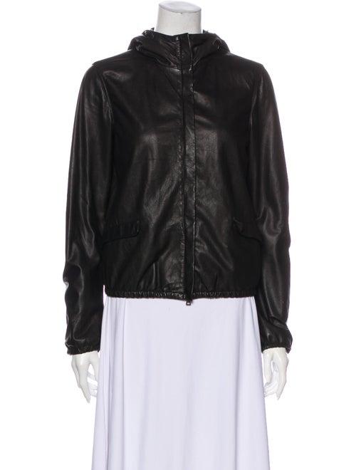 Prada Sport Leather Jacket Black