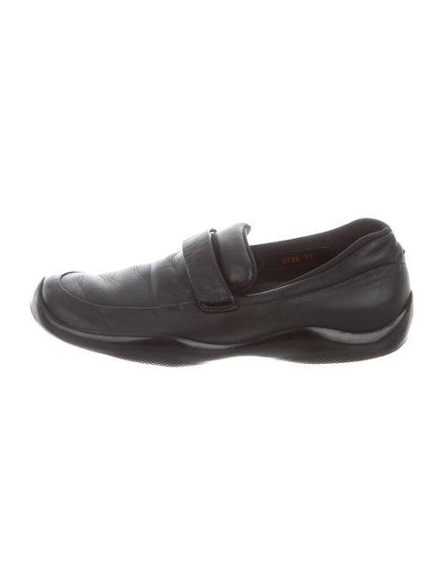Prada Sport Leather Loafers Black